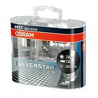 Автолампа OSRAM 64211SV2 Silver Star 2.0 H11 55W 12V PJ19-2 10X2 HardDuopet