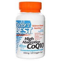 Высокоусвояемый коэнзим CoQ10,120 капсул, при сердечно-сосудистых заболеваниях