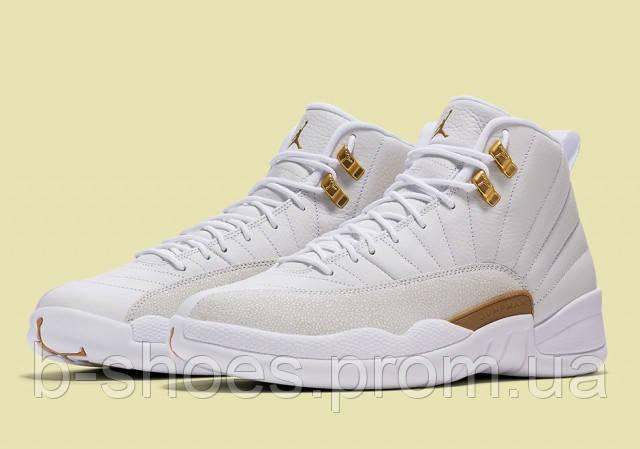 Мужские баскетбольные кроссовки Air Jordan Retro 12 OVO (White)