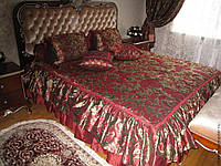 Жаккардовое покрывало  с 3 подушками