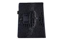 Черный чехол под крокодиловую кожу для Asus MeMO Pad FHD ME302KL из синтетической кожи