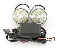 Ходовые огни DRL-104 HP 1w Круглые, 4 диода (1w) с блоком управления