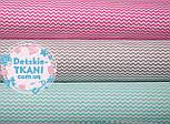 Набор хлопковых тканей 50*50 из 3 штук с мини зигзагом (мятный, серый, розовый), фото 4