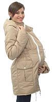 Демисезонная куртка для беременных и слингоношения 5в1, бежевая, фото 1