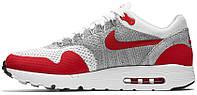 Мужские кроссовки Nike Air Max 1 Ultra Flyknit White/Red, найк