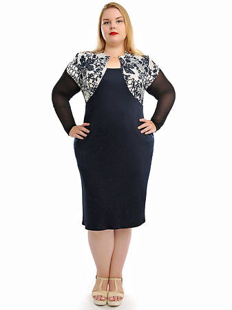 Женское платье больших размеров  модное