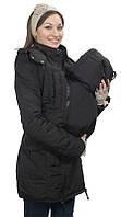 Демисезонная куртка для беременных и слингоношения 5в1, черная*, фото 1