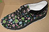 Кроссовки женские молодежные стильные из натуральной кожи, кожаные   женские кроссовки от производителя, фото 1