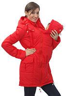 Демисезонная куртка для беременных и слингоношения 5в1, красная, фото 1