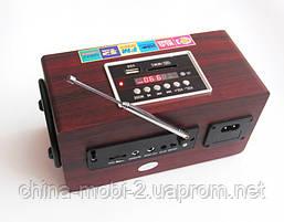 Портативная колонка Opera OP-8752, MP3 SD USB FM, красное дерево, фото 3