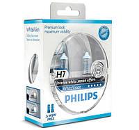 Автолампа PHILIPS 12972WHVSM H7 55W 12V PX26d WhiteVision +60%(4300K)