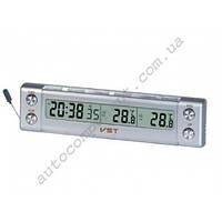 Авточасы 7036 Электронные часы (с внутренним и наружным термометром) универсальные