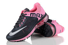Женские кроссовки Nike Air Max 2013 черно-розовые
