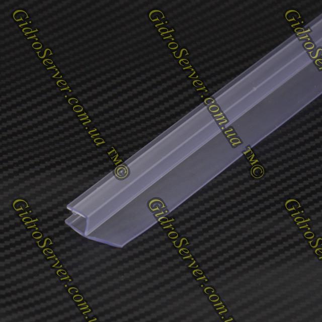 Уплотнитель для душевых кабин и гидромассажных боксов U-03, устанавливается на торцы стеклянных дверей.