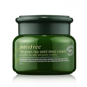 Innisfree The Green Tea Seed Deep Cream Экстраувлажняющий крем с экстрактом зеленого чая