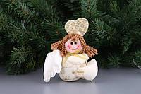 """Новогоднее украшение 12х4х11 см. """"Девочка-ангел"""" полиэстер, новогодняя коллекция"""