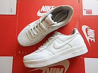 Кроссовки мужские низкие белые Nike Air Force 1 Full White (реплика)
