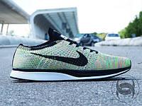 Кроссовки мужские беговые летние Nike Flyknit Racer grey (найк) (реплика)