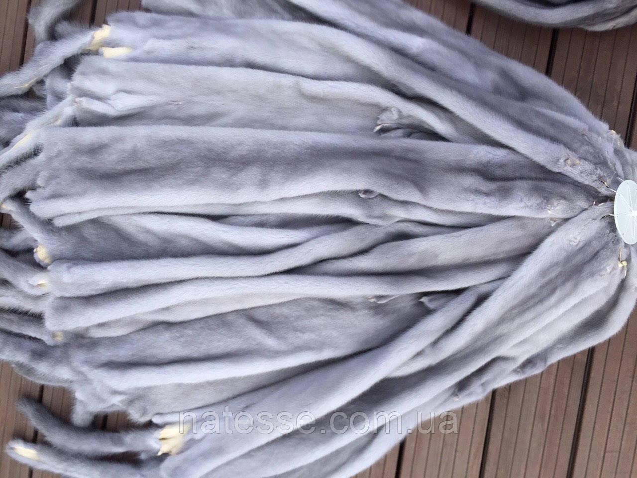 Мех шкурки норка датская Сапфир голубой Самцы 70-72 см