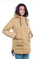 Куртка зимняя женская, желтый нежный , р. 44-54
