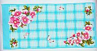 """Кухонне вафельний рушник """"Метелики блакитне"""" 75х35см, фото 1"""