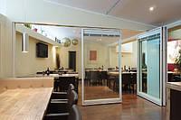 Изделия из Алюминия и Стекла: Остекление фасадов, Входные группы, Двери, Перегородки, Окна.