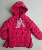 Куртка переходник на девочку NATURE отделка пуговицами малиновый
