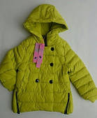 Куртка переходник на девочку NATURE отделка пуговицами лимонный