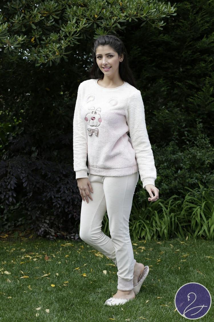 Жіноча  піжама HAYS 6011 софт велюр