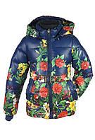Куртка демисезонная для девочки 2-6лет. Цвет синий