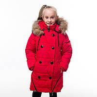 Зимнее пальто для девочки Пуговка, новинки зима 2017