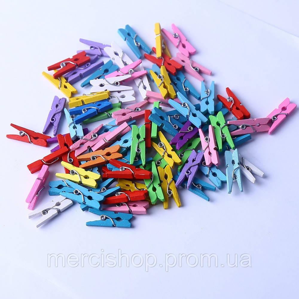 Декоративные мини прищепки разных цветов, Craft, клип, декор (50 шт.), длина: 3 см