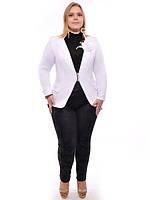 Пиджак белый большего размера