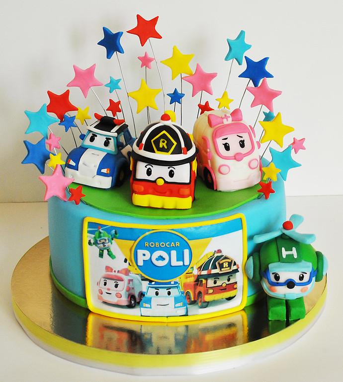 фото торты робокар поли