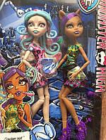 Набор кукол Монстер Хай Ужасный Макияж (Monster High Scare and Makeup Viperine Gorgon and Clawdeen Wolf 2 Doll