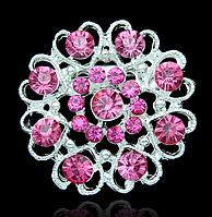Женская брошка Романтика розовая