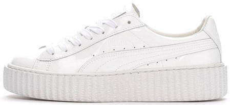 Женские кроссовки Rihanna x Puma Suede Creeper All White Leather ... 2dad66868fc45