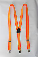 """Подтяжка женская полосатая оранжевая (25 мм Y) """"Remen"""" LM-638"""