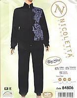 Женская велюровый костюм  для дома и отдыха большой размер