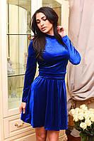 Костюм велюровый свитшот + юбка-солнце 113 (ВИВ)