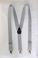 """Подтяжка мужская однотонная сине-серая (35 мм Y) """"Remen"""" LM-638"""
