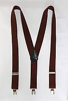 """Подтяжка мужская однотонная коричневая (35 мм Y) """"Remen"""" LM-638"""