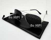 Очки тренажеры (очки  Федорова) для улучшения зрения. с чехлом, металл
