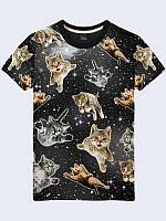 Футболка Коты в космосе