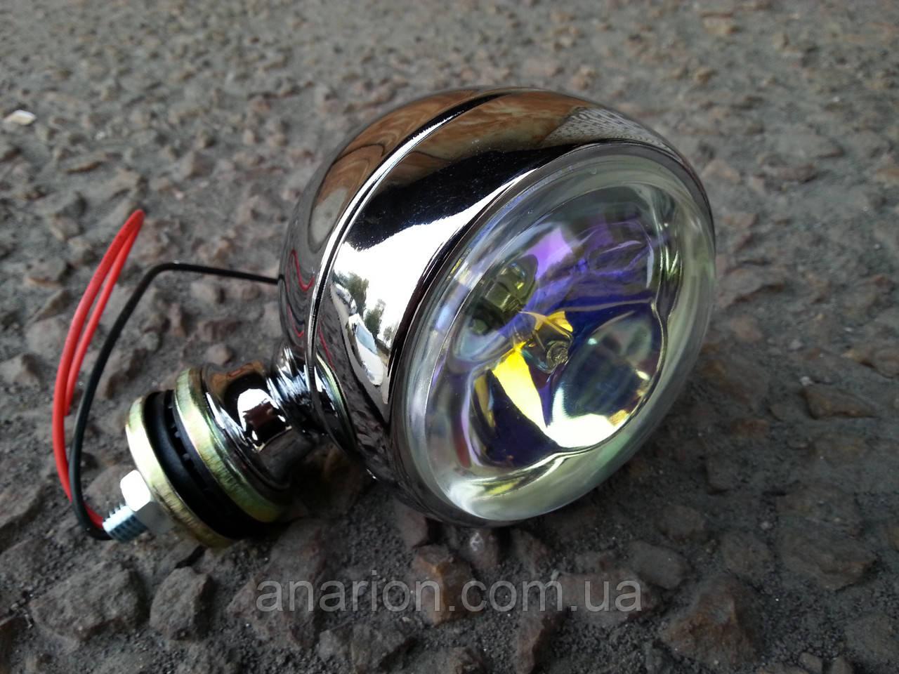 Дополнительная фара для мотоциклов №3008 кристалл (1 штука).