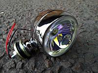 Дополнительная фара для мотоциклов №3008 кристалл (1 штука)., фото 1