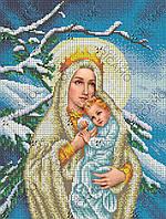 Вишивка ікони бісером Діва Марія Сніжна 27.5х36