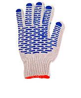 Перчатки Werk WE2121 (х/б синяя волна, белые)