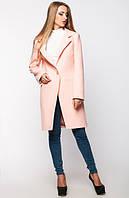 Женское кашемировое пальто Мирей персиковое
