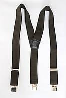 """Подтяжка мужская однотонная болотного цвета (40 мм Y) """"Remen"""" LM-638"""